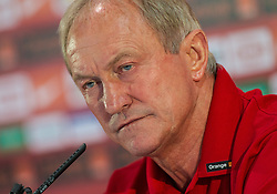 27.05.2012, Dolomitenstadion, Lienz, AUT, UEFA EURO 2012, Trainingscamp, Polen, Pressekonferenz, im Bild Headcoach Franciszek Smuda // Headcoach Franciszek Smuda during pressconference of polish National Footballteam for preparation UEFA EURO 2012 at Dolomitenstadion, Lienz, Austria on 2012/05/27. EXPA Pictures © 2012, PhotoCredit: EXPA/ Johann Groder