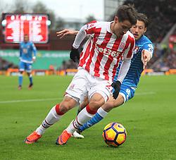 Bojan Krkic of Stoke City (L) and Harry Arter of Bournemouth in action - Mandatory by-line: Jack Phillips/JMP - 19/11/2016 - FOOTBALL - Bet365 Stadium - Stoke-on-Trent, England - Stoke City v Bournemouth - Premier League