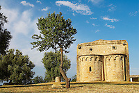 Italie, Sardaigne, province de Cagliari, Serdiana, église romane Santa Maria di Sibiola du XIIIe siècle