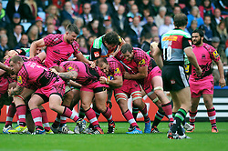 London Welsh maul the ball forward - Photo mandatory by-line: Patrick Khachfe/JMP - Mobile: 07966 386802 04/10/2014 - SPORT - RUGBY UNION - London - The Twickenham Stoop - Harlequins v London Welsh - Aviva Premiership