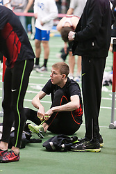 Boston University Terrier Invitational Indoor Track Meet: Galen Rupp, Oregon Project, warm up