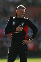 Football - 2017 / 2018 Premier League - AFC Bournemouth vs. Swansea City<br /> <br /> A smiling Bournemouth Manager Eddie Howe as his team take a final home game lap of honour at Dean Court (Vitality Stadium) Bournemouth <br /> <br /> COLORSPORT/SHAUN BOGGUST