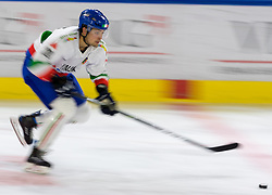 12.04.2018, Tiroler Wasserkraft Arena, Innsbruck, AUT, Eishockey Testspiel, Österreich vs Italien, während dem Eishockey Testspiel Österreich vs Italien am Donnerstag, 12. April 2018 in Innsbruck, im Bild Riccardo Lacedelli (ITA) // during the International Icehockey Friendly match between Austria and Italy at the Tiroler Wasserkraft Arena in Innsbruck, Austria on 2018/04/12. EXPA Pictures © 2018, PhotoCredit: EXPA/ Jakob Gruber