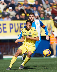 February 3, 2019 - Villarreal, Castellon, Spain - Carlos Bacca of Villarreal and David Lopez of RCD Espanyol during the La Liga match between Villarreal and Espanyol at Estadio de la Ceramica on February 3, 2019 in Vila-real, Spain. (Credit Image: © Maria Jose Segovia/NurPhoto via ZUMA Press)