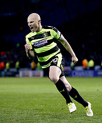 Aaron Mooy of Huddersfield Town celebrates after scoring his penalty - Mandatory by-line: Matt McNulty/JMP - 17/05/2017 - FOOTBALL - Hillsborough - Sheffield, England - Sheffield Wednesday v Huddersfield Town - Sky Bet Championship Play-off Semi-Final 2nd Leg