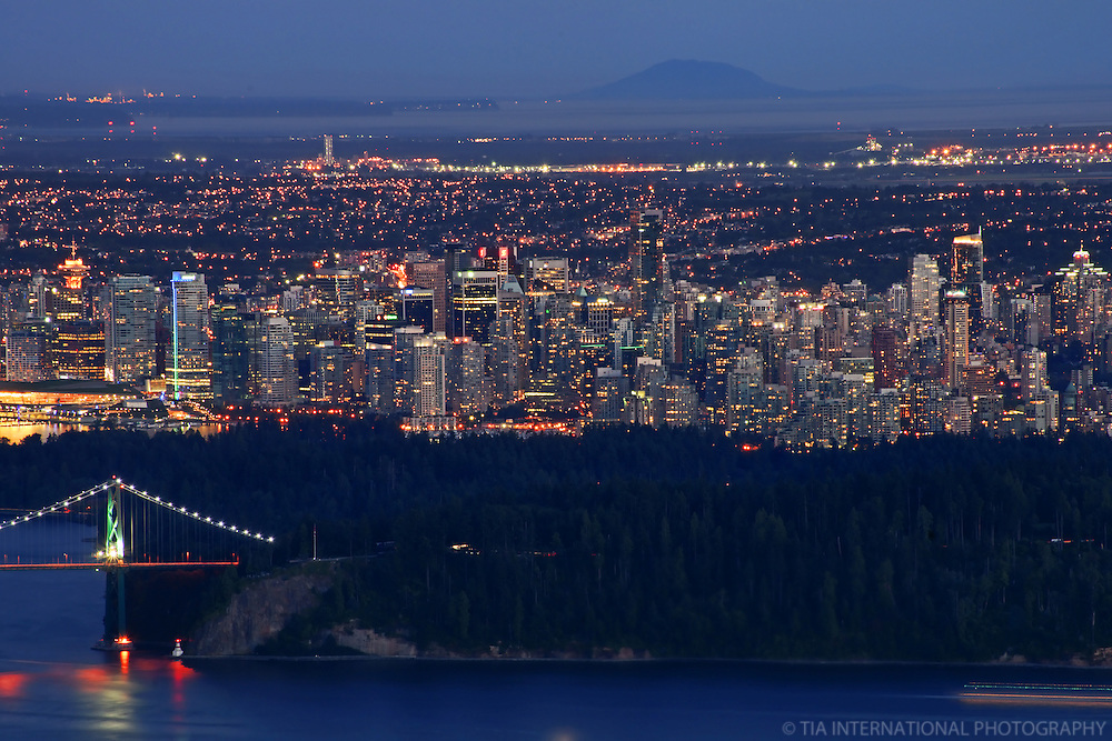 Skyline of Vancouver from Cypress Mountain (Dusk)