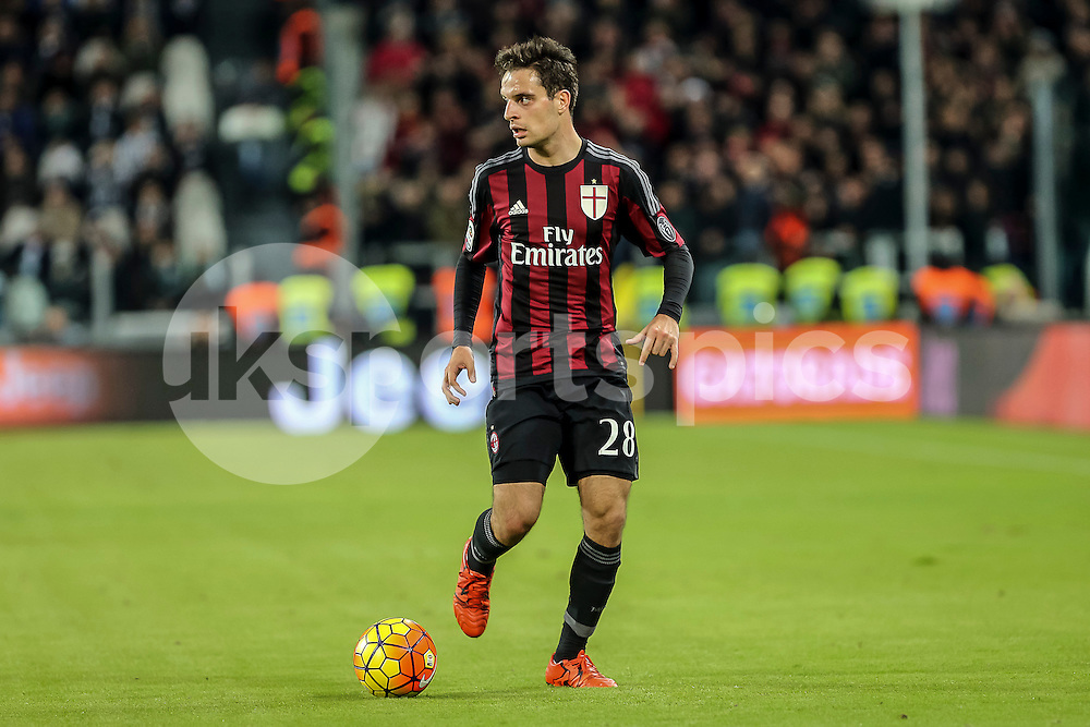 Giacomo Bonaventura of AC Milan in action during the Serie A TIM match between Juventus and AC Milan at the Juventus Stadium, Turin, Italy on 21 November 2015. Photo by sync studio.