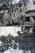 young and adult businessmen together Japan ca 1940s