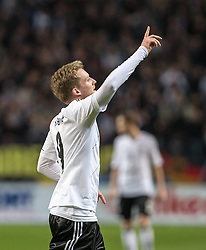 15.10.2013, Friends Arena, Stockholm, SWE, FIFA WM Qualifikation, Schweden vs Deutschland, Gruppe C, im Bild Germany 9 Andre Schürrle Schurrle score 3-5,, , Nyckelord , Keywords : football , fotboll , soccer , FIFA , World Cup , Qualification , Sweden , Sverige , Schweden , Germany , Tyskland , Deutschland portr©tt portrait // during the FIFA World Cup Qualifier Group C Match between Sweden and Germany at the Friends Arena, Stockholm, Sweden on 2013/10/15. EXPA Pictures © 2013, PhotoCredit: EXPA/ PicAgency Skycam/ Ted Malm<br /> <br /> ***** ATTENTION - OUT OF SWE *****