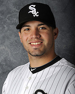 GLENDALE, AZ - MARCH 03: Hector Santiago of the Chicago White Sox poses for his official team headshot during photo day on March 3, 2012 at The Ballpark at Camelback Ranch in Glendale, Arizona. (Photo by Ron Vesely)   Subject:   Hector Santiago