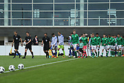 Republic of Ireland and Bosnia enter the pitch during the UEFA European Under 17 Championship 2018 match between Bosnia and Republic of Ireland at Stadion Bilino Polje, Zenica, Bosnia and Herzegovina on 11 May 2018. Picture by Mick Haynes.
