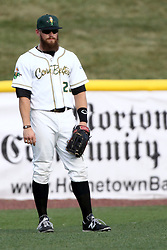 08 August 2015:  Cameron Monger during a Frontier League Baseball game between the Rockford Aviators and the Normal CornBelters at Corn Crib Stadium on the campus of Heartland Community College in Normal Illinois