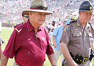 "Simply put, FSU Head Coach Bobby Bowden after the gamel ""They whupped us.""  USF defeated No. 18 FSU 17-7, Saturday, 26 Sep 09, at Doak Campbell Stadium in front of 12,000 fans. First meeting between the schools and was viewed by FSU's biggest home crowd in four years."