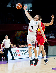 Janis Strelnieks of Latvia vs Vladimir Mihailovic of Montenegro during basketball match between National Teams of Latvia and Montenegro at Day 11 in Round of 16 of the FIBA EuroBasket 2017 at Sinan Erdem Dome in Istanbul, Turkey on September 10, 2017. Photo by Vid Ponikvar / Sportida