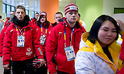 Polish National Team before opening ceremony of the 10th Special Olympics World Winter Games in the Yongpyong Dome near Alpensia on January 29, 2013...South Korea, PyeongChang, January 29, 2013..Picture also available in RAW (NEF) or TIFF format on special request...For editorial use only. Any commercial or promotional use requires permission...Photo by © Adam Nurkiewicz / Mediasport