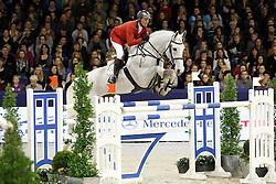 Lansink Jos (BEL) - Casper van Spieveld<br /> Jumping Amsterdam 2012<br /> © Hippo Foto - Leanjo de Koster