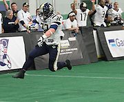 May 3, 2014; York, PA, USA; The Baltimore Mariners take on the York Capitals of the American Indoor Football game at the York City Ice Arena in York, PA. Mandatory Credit: Brian Schneider/www.ebrianschneider.com