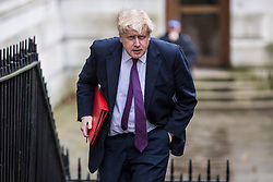© Licensed to London News Pictures. 20/02/2018. London, UK. Foreign Secretary Boris Johnson arrives on Downing Street for the weekly Cabinet meeting. Photo credit: Rob Pinney/LNP
