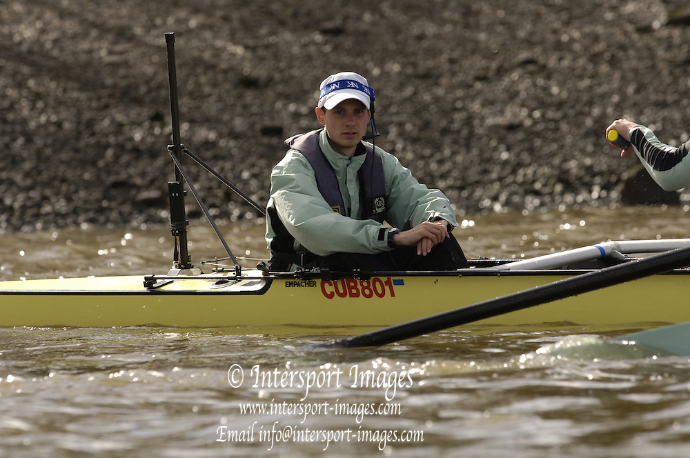 Putney, London, ENGLAND, 31.03.2006, 2006, Boat Race, Varsity, Tideway Week, Friday, Am outing, [Cambridge] CUBC  © Peter Spurrier/Intersport-images.com.[Mandatory Credit Peter Spurrier/ Intersport Images] Varsity, Boat race. Rowing Course: River Thames, Championship course, Putney to Mortlake 4.25 Miles