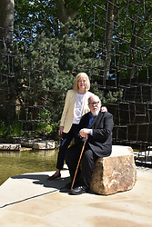 Sir Peter & Lady Blake at the RHS Chelsea Flower Show Press Day, Royal Hospital Chelsea, London England. 22 May 2017.<br /> Photo by Dominic O'Neill/SilverHub 0203 174 1069 sales@silverhubmedia.com