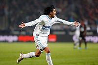 FOOTBALL - FRENCH CHAMPIONSHIP 2009/2010 - L1 - OLYMPIQUE MARSEILLE v STADE RENNAIS - 5/05/2010 - PHOTO PHILIPPE LAURENSON / DPPI - JOY LUCHO GONZALEZ (OM) AFTER HIS GOAL