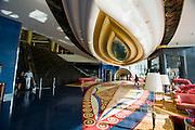Jumeirah, Burj Al Arab, the World's most luxurious hotel. The Reception area.