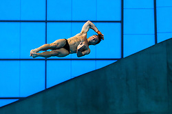 Tom Daley of Great Britain dives during the Mens 10m Platform Final, going on to win the Gold Medal with a score of 570.50  - Mandatory byline: Rogan Thomson/JMP - 15/05/2016 - DIVING - London Aquatics Centre - Stratford, London, England - LEN European Aquatics Championships 2016 Day 7.