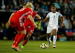 Nikita Parris of England takes on Anna Belomyttseva of Russia - Mandatory by-line: Matt McNulty/JMP - 19/09/2017 - FOOTBALL - Prenton Park - Birkenhead, United Kingdom - England v Russia - FIFA Women's World Cup Qualifier