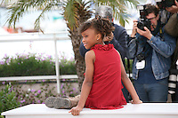 Young Actress Quvenzhané at the Beasts of the Southern Wild film photocall at the 65th Cannes Film Festival. Photocall on Saturday 19th May 2012 in Cannes Film Festival, France.