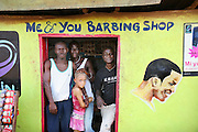Me & You Barbing Shop.  Makeni, Sierra Leone