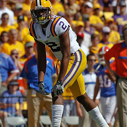October 8, 2011; Baton Rouge, LA, USA;  LSU Tigers wide receiver Rueben Randle (2) against the Florida Gators during the first quarter at Tiger Stadium.  Mandatory Credit: Derick E. Hingle-US PRESSWIRE / © Derick E. Hingle 2011