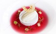 Copyright JIm Rice ©2013.AIRA RESTAURANT.RHUBARB SOUP WITH OEUFS ALA NEIGE