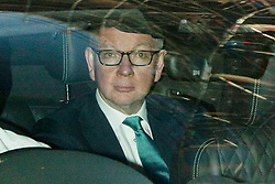 © Licensed to London News Pictures. 01/09/2019. London, UK. Chancellor of the Duchy of Lancaster Michael Gove arrives at the BBC. Later he will appear on the Andrew Marr Show. Photo credit: George Cracknell Wright/LNP