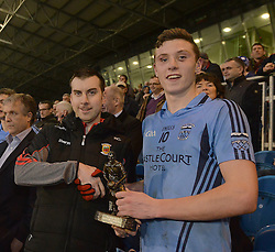 Paul Cunnane PRO Mayo Gaa presented Westport&rsquo;s Fionn McDonagh with Man of the Match from the Mayo Intermediate County final.<br />