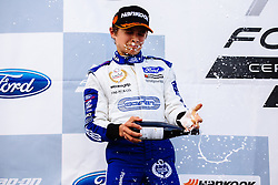 Lando Norris 3rd place finish | #31 Carlin | MSA Formula Championship | Race 3 - Mandatory byline: Rogan Thomson/JMP - 07966 386802 - 28/06/2015 - SPORT - MOTORSPORT - North Yorkshire, England - Croft Circuit - BTCC Meeting Day 2.