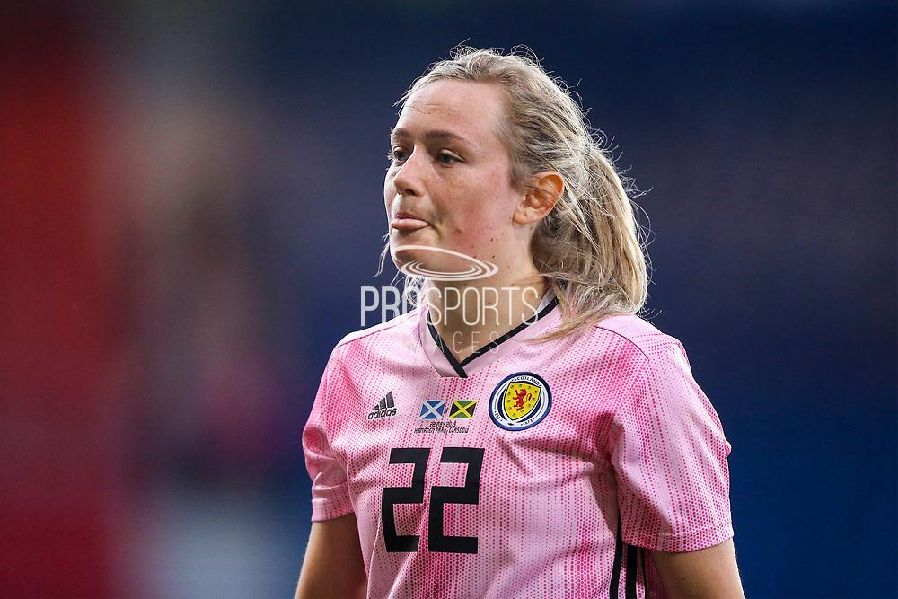Erin Cuthbert (#22) of Scotland following the International Friendly match between Scotland Women and Jamaica Women at Hampden Park, Glasgow, United Kingdom on 28 May 2019.