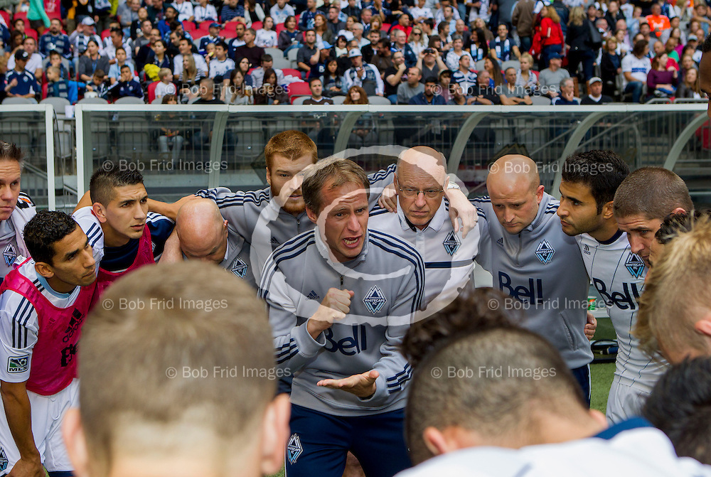 04 October  2014:   Action during a game between Vancouver Whitecaps FC and Fc Dallas on Bell Pitch at BC Place Stadium in Vancouver, BC, Canada. ****(Photo by Bob Frid - Vancouver Whitecaps 2014 - All Rights Reserved)***