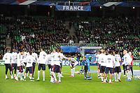 Groupe France - 29.03.2015 - France / Danemark - Match amical -Saint Etienne-<br /> Photo : Jean Paul Thomas / Icon Sport