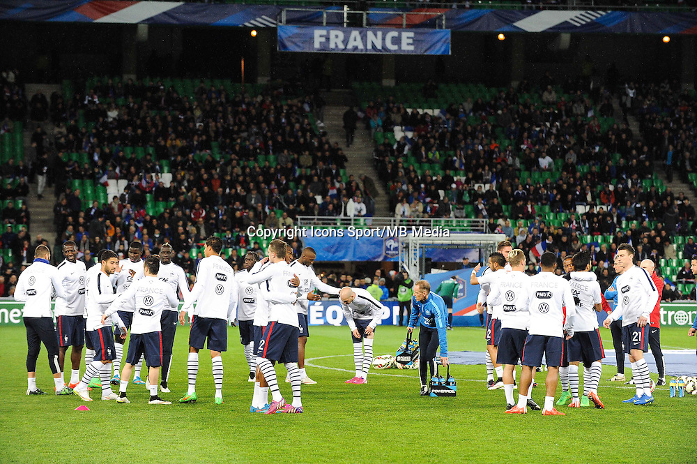 Groupe France - 29.03.2015 - France / Danemark - Match amical -Saint Etienne-<br /> Photo : Jean Paul Thomas / Icon Sport