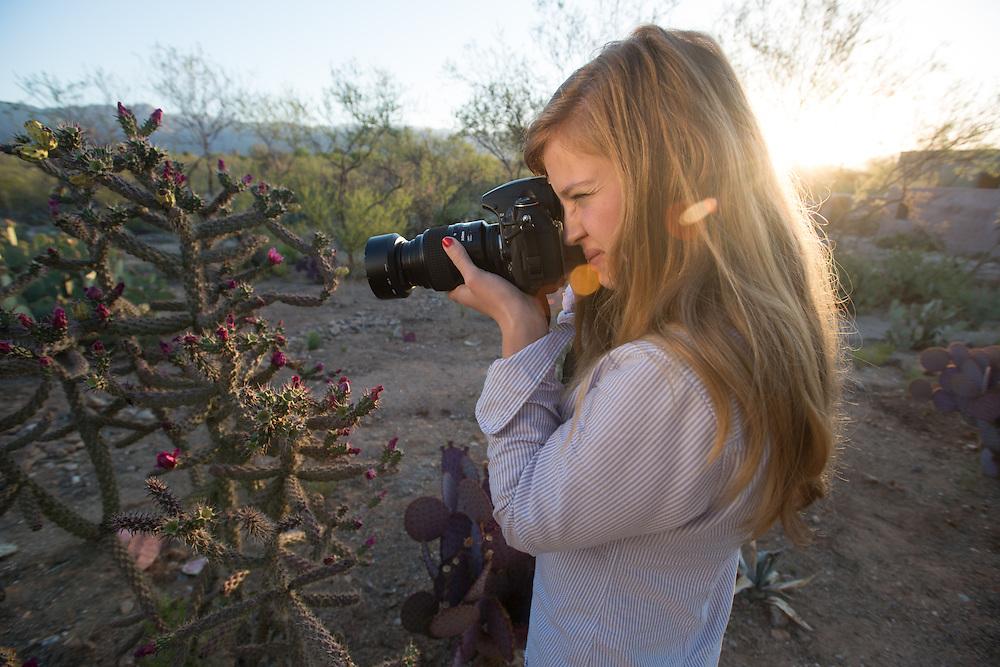 Tucson AZ - Photographer In Desert