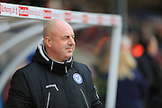 Keith Hill during the Sky Bet League 1 match between Scunthorpe United and Rochdale at Glanford Park, Scunthorpe, England on 28 December 2015. Photo by Daniel Youngs.