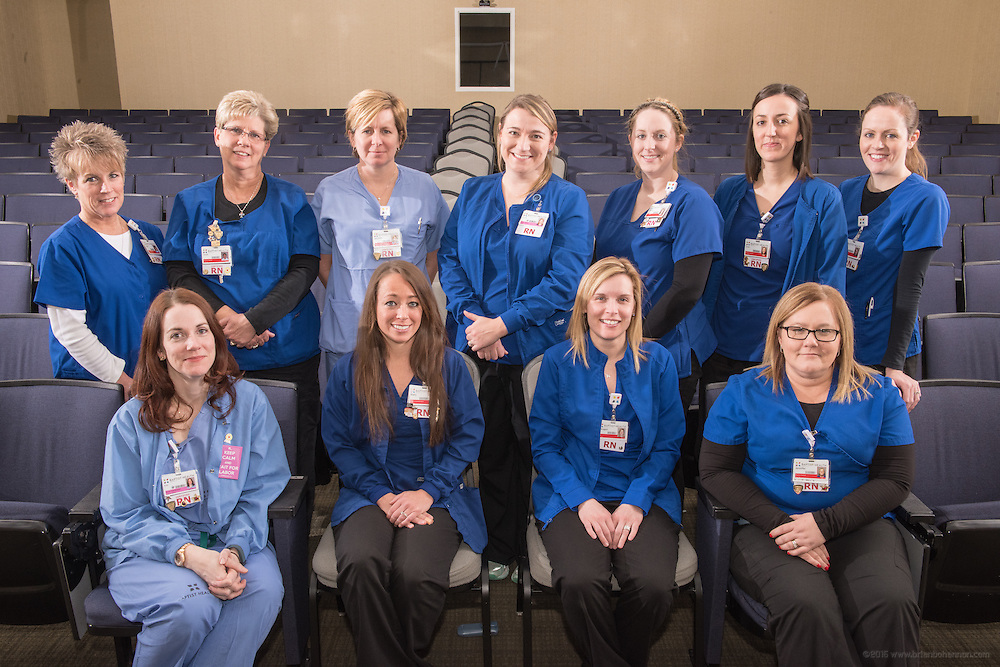 Coordinators for the nursing annual report, photographed Friday, Feb. 12, 2016 at Baptist Health in Louisville, Ky. (Photo by Brian Bohannon)