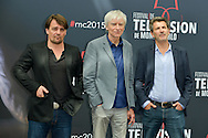 Godard Thierry, Duclos Philippe, Bianconi Fred pose at a photocall for the TV series 'Engrenage' during the 55th Monte Carlo TV Festival on June 13, 2015 in Monte-Carlo, Monaco