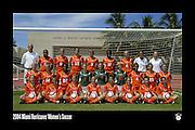 2004 Miami Hurricanes Women's Soccer Team Photo