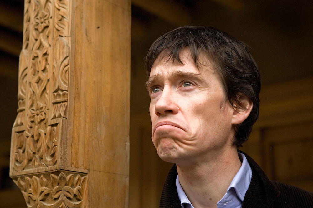 Author, academic, former soldier and diplomat and founder of Turquoise Mountain Foundation Rory Stewart visits his reconstruction project in the 'Old City' Kabul, Afghanistan on the 29th of March 2009..