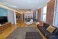 Living Room at 161 Hudson Street