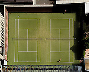 Overhead view of a Tennis Court in Melbourne Australia