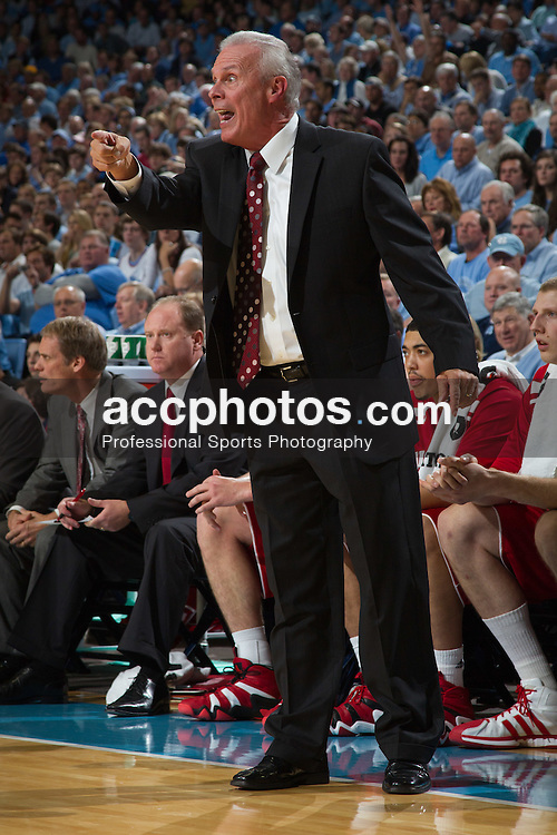 CHAPEL HILL, NC - NOVEMBER 30: Head coach Bo Ryan of the Wisconsin Badgers coaches his team while playing the North Carolina Tar Heels on November 30, 2011 at the Dean E. Smith Center in Chapel Hill, North Carolina. North Carolina won 57-60. (Photo by Peyton Williams/UNC/Getty Images)