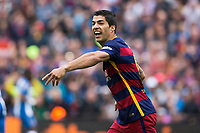 09 FC Barcelona player Luis Suárez (Uruguay) during the match between FC Barcelona vs RCD Espanyol of Spanish Liga BBVA. Played on Camp Nou Stadium. On the 8th of May of 2016, Barcelona, Spain, Photo Xavi Bonilla / DPPI