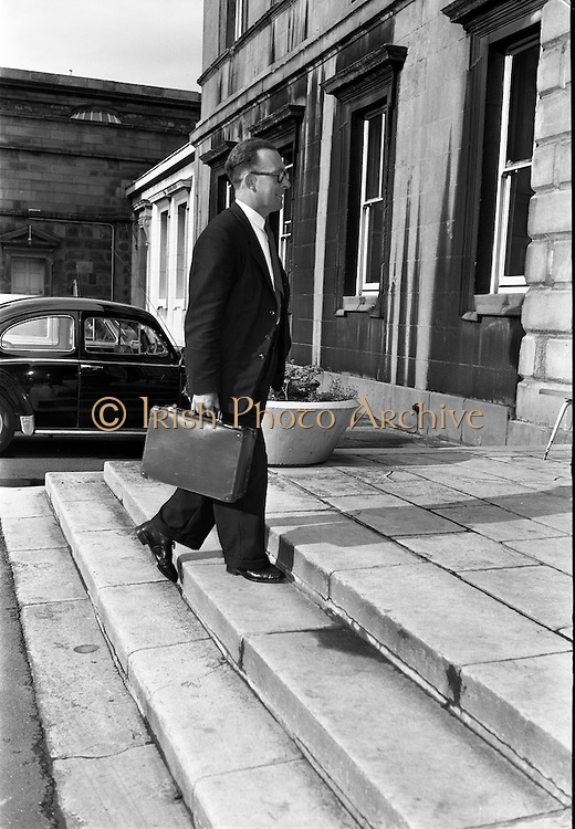 25/06/1963<br /> 06/25/1963<br /> 25 June 1963<br /> Deputy Joseph Leneghan T.D., arriving at the Dail, Leinster House, Dublin.